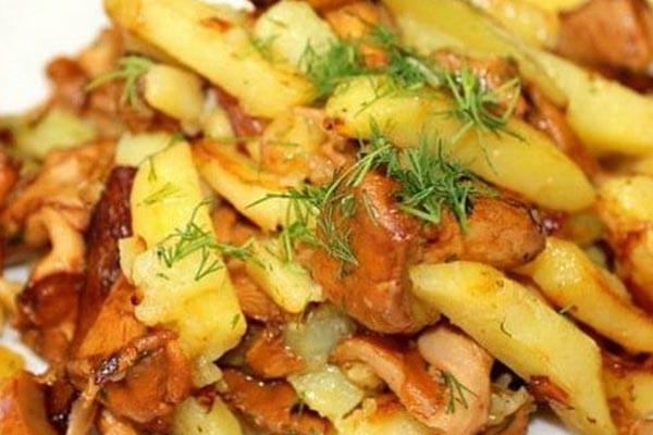 жареные лисички с картошкой рецепт